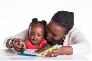 mom baby read never too early