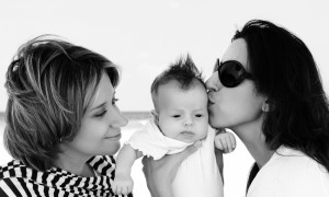 Nontraditional Family with Baby